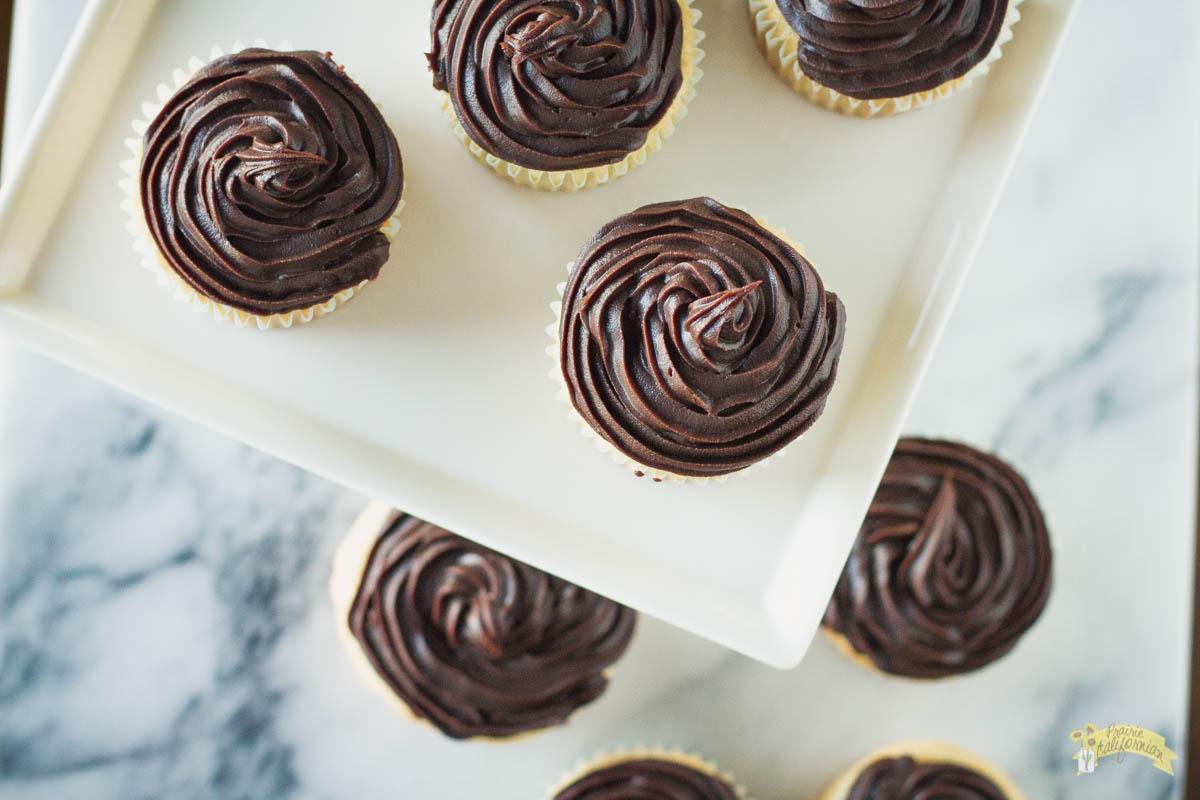 Boston Cream Pie Cupcakes featuring Durrer Dairy