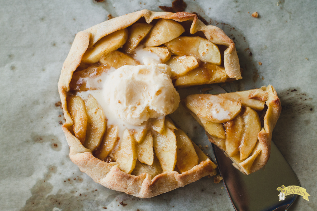 Caramel Apple Galette featuring The Fruit Wagon