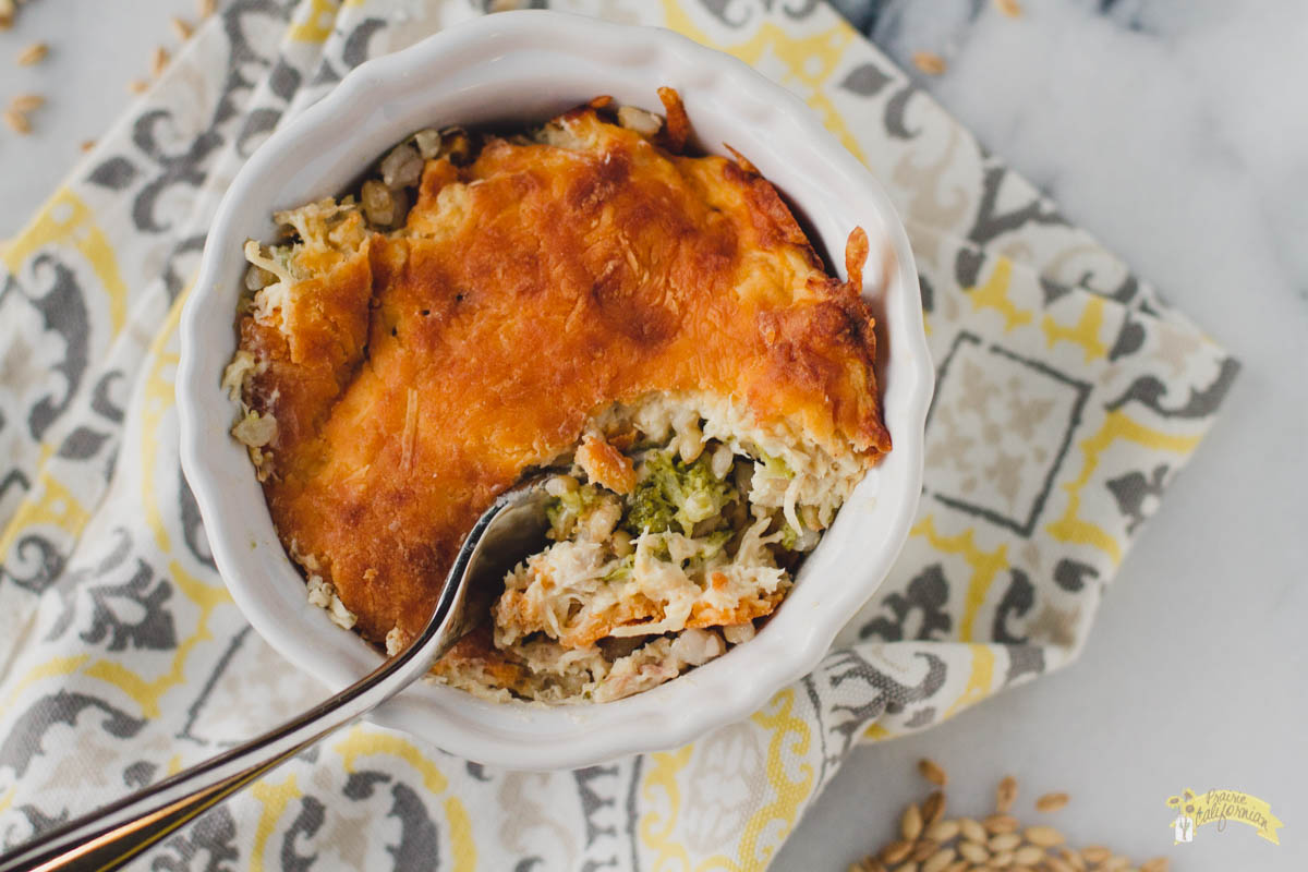 Chicken Broccoli and Barley Casserole featuring Alaska Flour Company