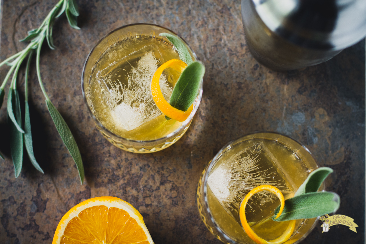 Honey Sage Whisky Cocktail featuring Neale Family Farms