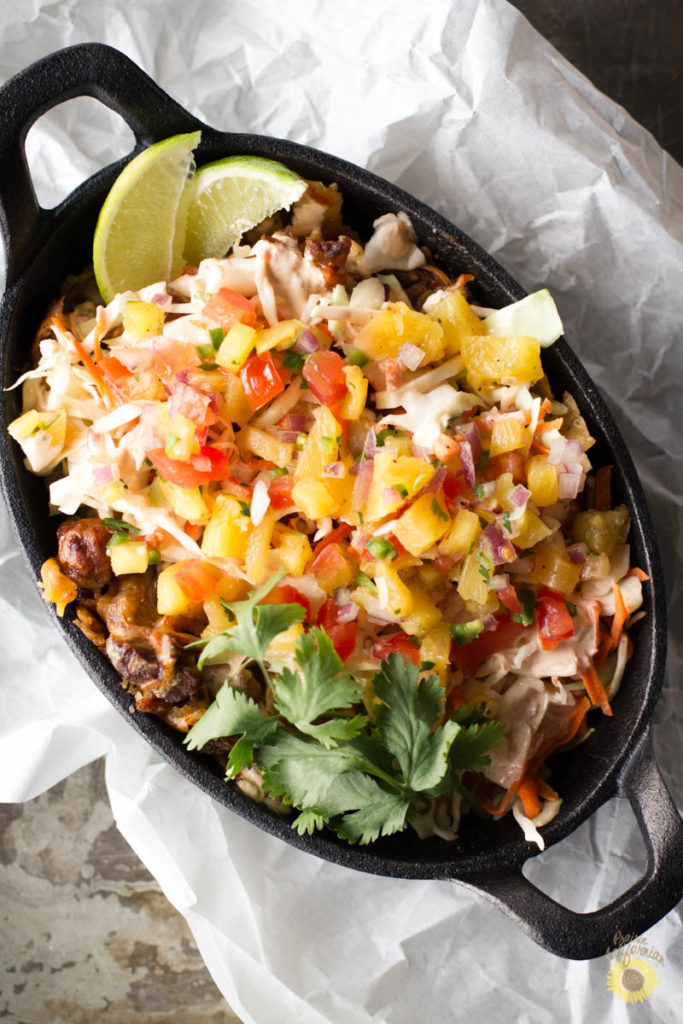 Pulled Pork Nachos with Pineapple Salsa-4