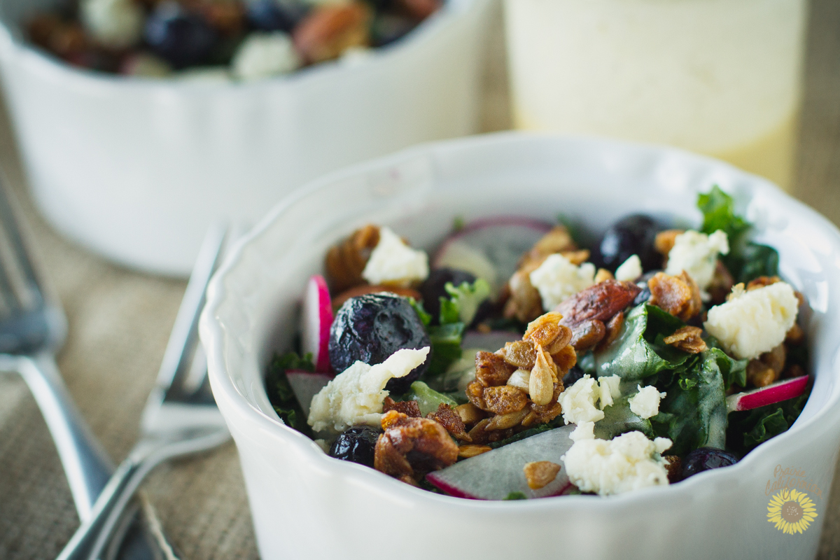 The Secrets to Kale Salads + Kale Berry Salad with Granola Recipe